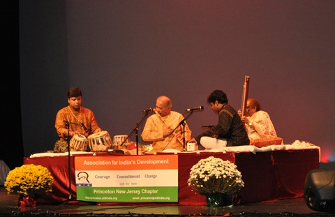 Pt. Hariprasad Chaurasia at the live event near Rutgers, NJ